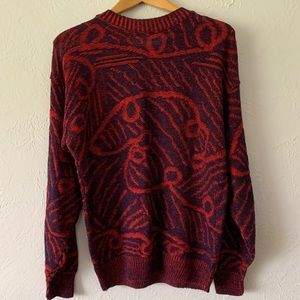 Vintage Abstract Grandpa Sweater